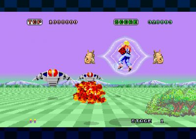 SEGA AGES Space Harrier gameplay